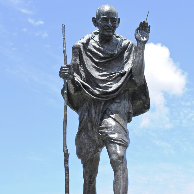 """Mohandas Gandhi statue, San Francisco"" stock image"