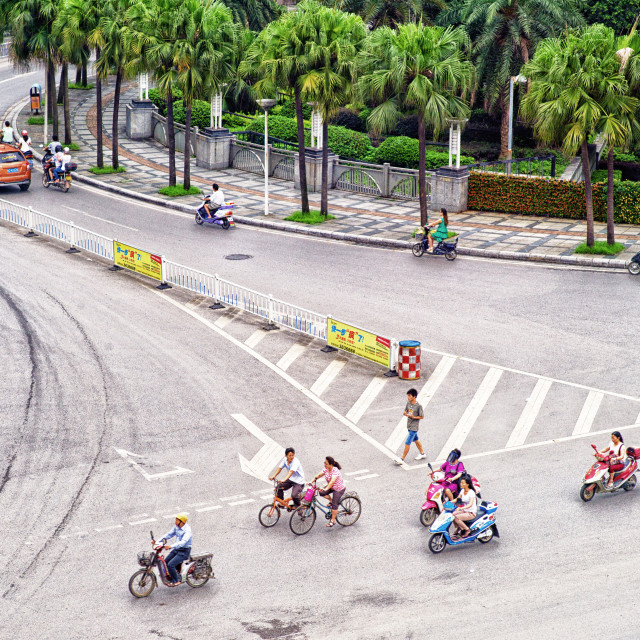 """Guilin crossing"" stock image"