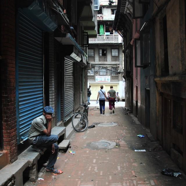 """Street Life Kathmandu"" stock image"