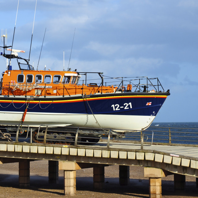 """""""Exmouth Lifeboat"""" stock image"""