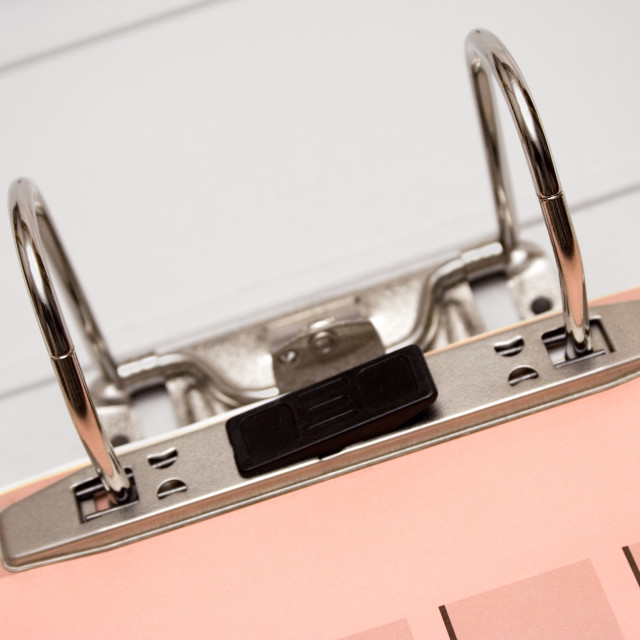 """Ring Binder Close View"" stock image"