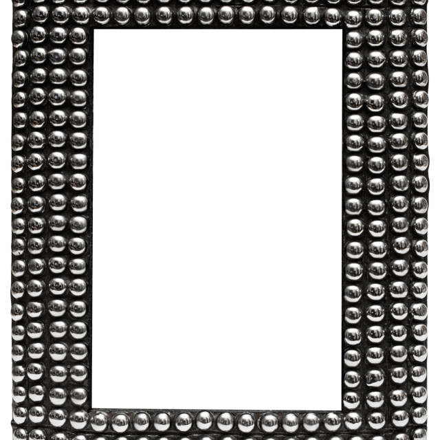 """Picture Frame with Metal Balls with Clipping Path"" stock image"