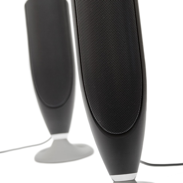 """Black Speakers"" stock image"