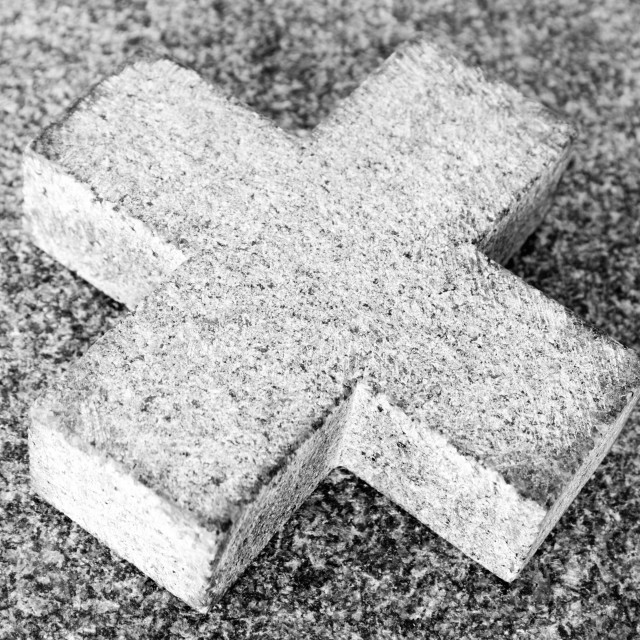 """Stone Cross"" stock image"