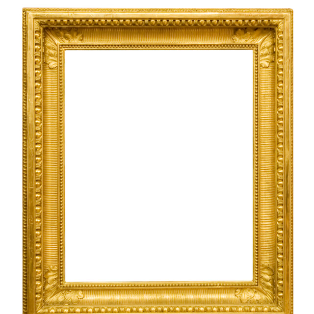 """Golden Picture Frame"" stock image"
