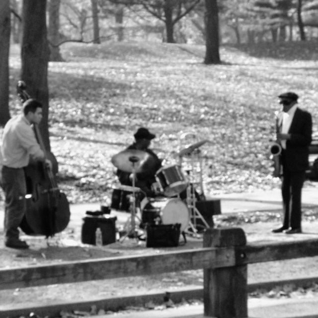 """Central Park Jazz"" stock image"