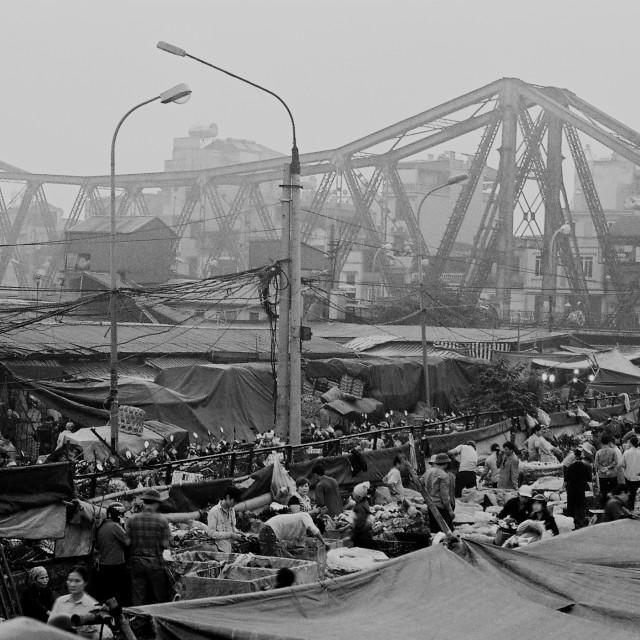 """""""Long Bien market in Ha Noi"""" stock image"""