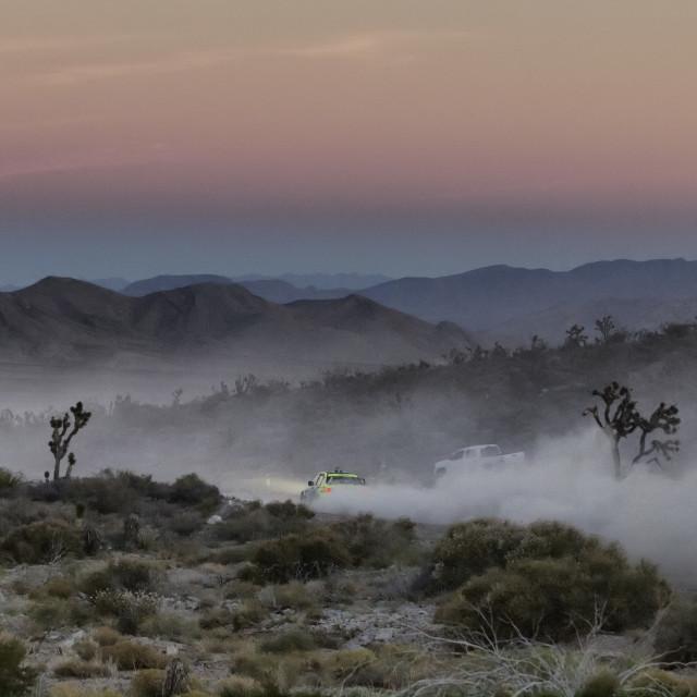 """Desert Rally Sunset"" stock image"