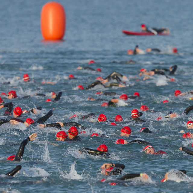 """Triathlon Frankfurt"" stock image"