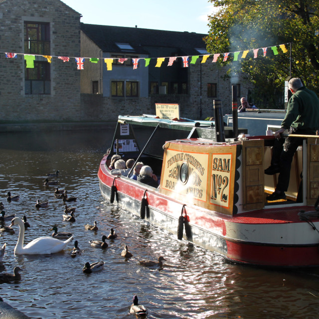 """Canal trip, Skipton."" stock image"