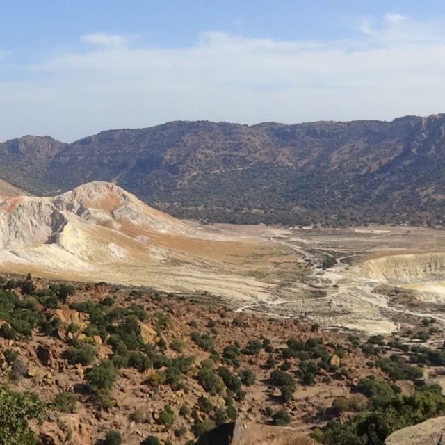 """Inside the caldera in Nisyros"" stock image"