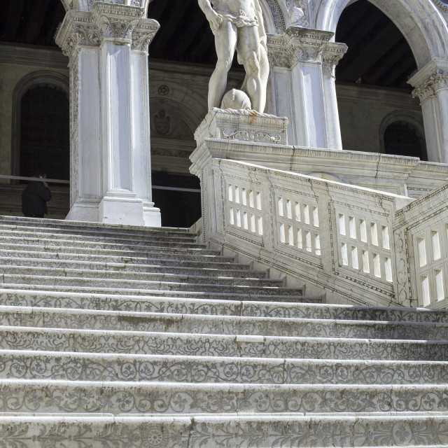 """Statue of Neptune at the Doge's palace"" stock image"