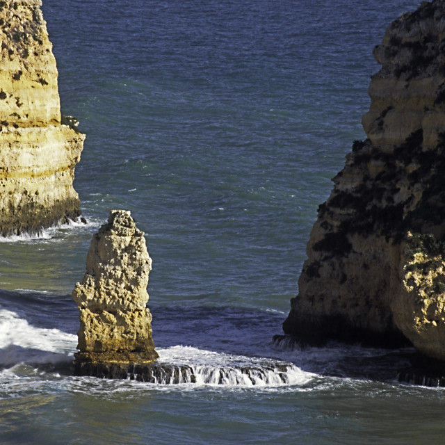 """""""Rock formations at Sagres Portugal"""" stock image"""