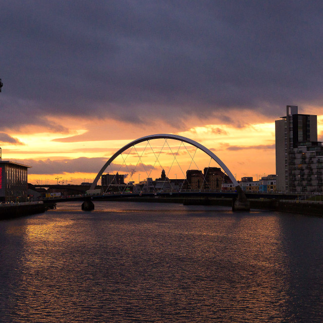 """Clyde Arc sunrise"" stock image"