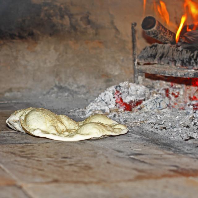 """Baking bread Turkish style"" stock image"