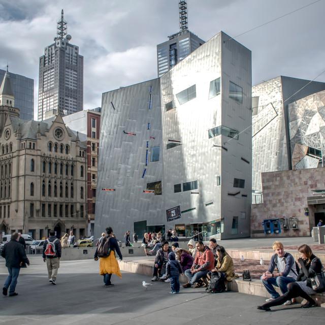 """Melbourne Australia--Federation Square"" stock image"