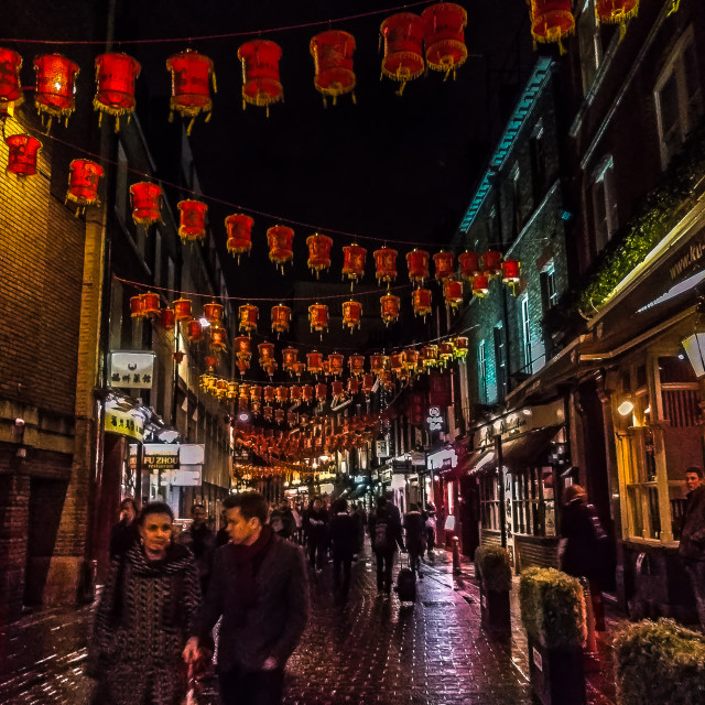 """Chinatown London"" stock image"