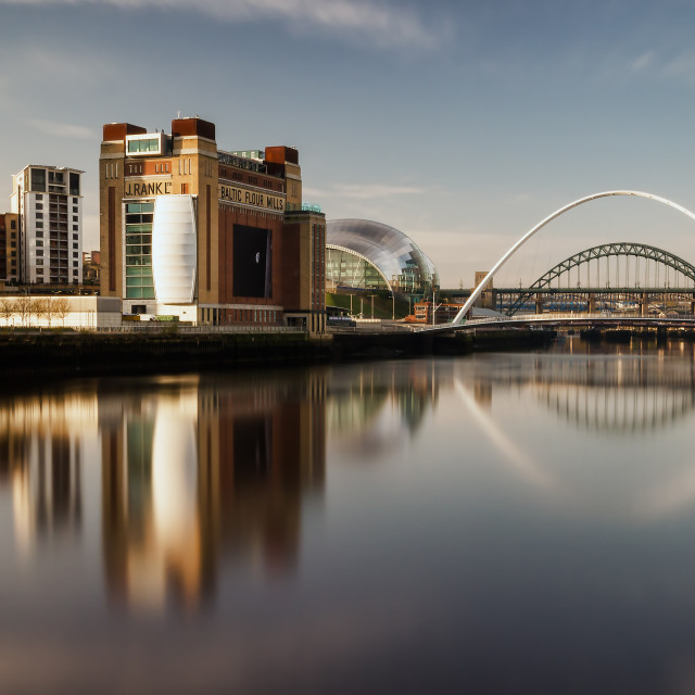 """Sun On The Tyne"" stock image"
