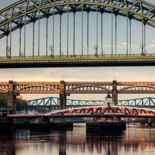 """Newcastle Bridges"" stock image"