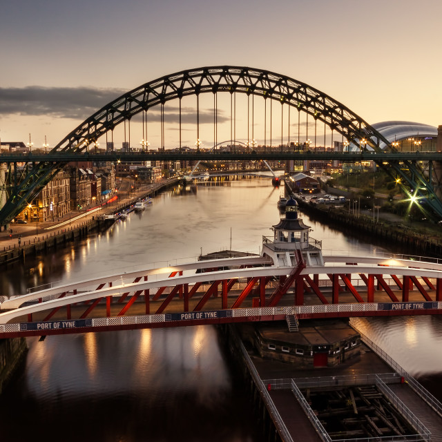 """Morning on theTyne"" stock image"