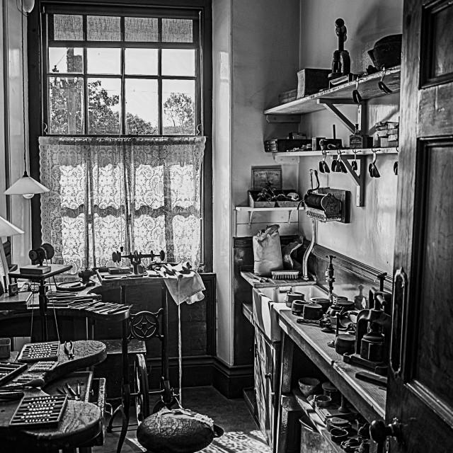 """Vintage Dental Laboratory"" stock image"