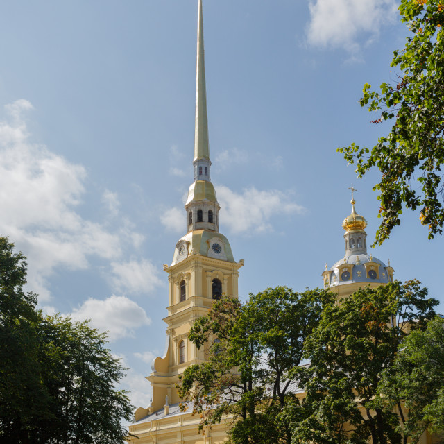 """Peter and Paul Cathedral in Saint Petersburg"" stock image"