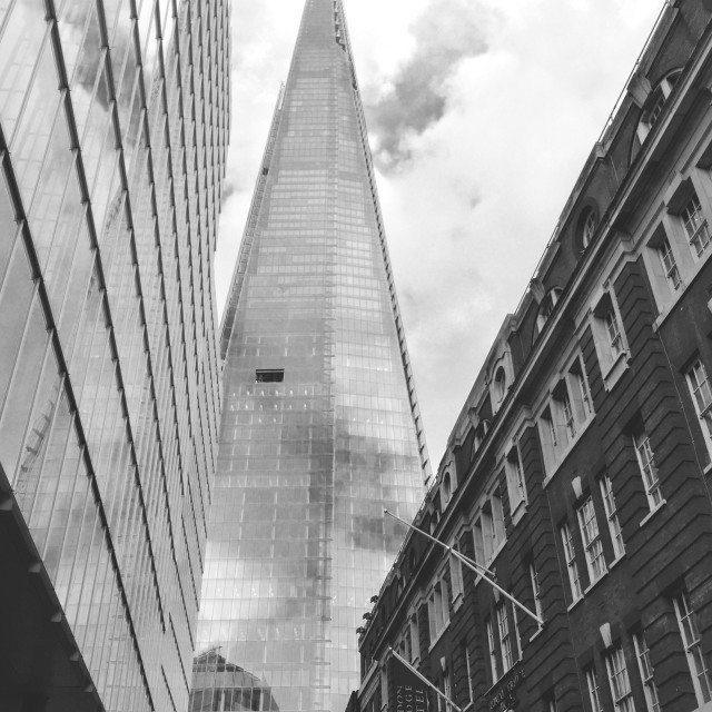 """""""The opening in the Shard"""" stock image"""
