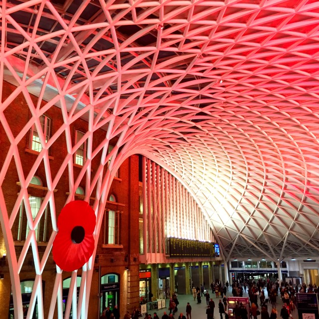 """""""Remembrance at King's Cross"""" stock image"""