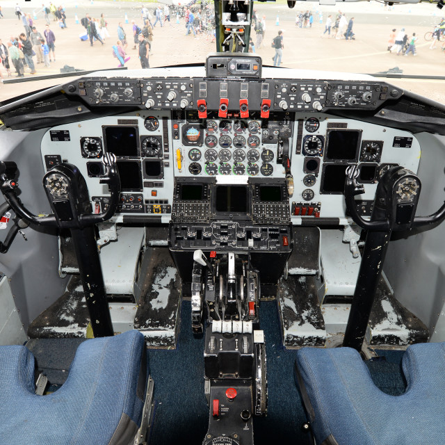 """Aircraft Cockpit"" stock image"