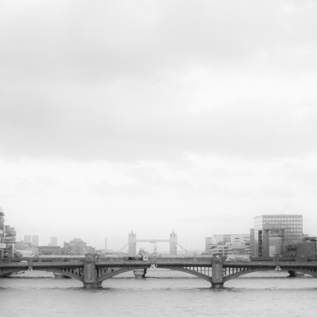 """""""London view from a Bridge"""" stock image"""