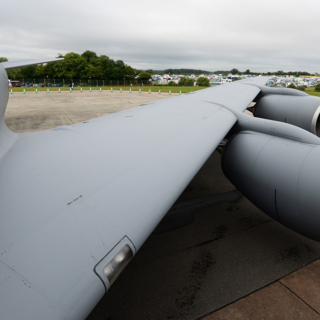 """""""Military Tanker Wing"""" stock image"""