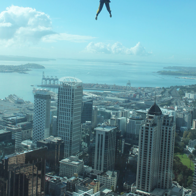 """Leap of Faith, Auckland"" stock image"