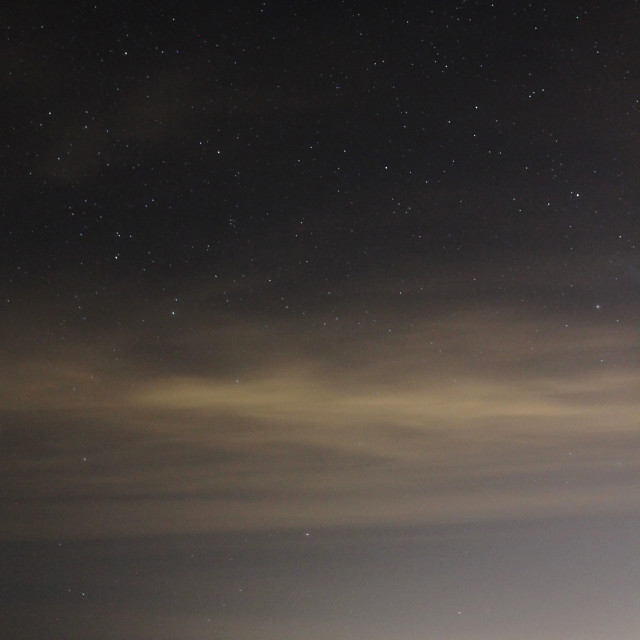 """Rangitoto under the stars"" stock image"