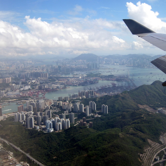 """Hong Kong By Air"" stock image"