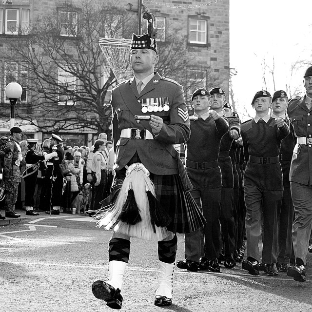 """""""Highland March"""" stock image"""
