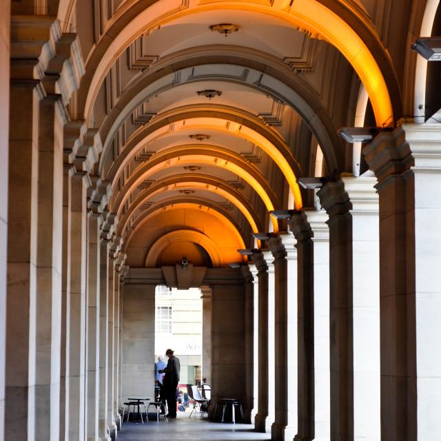"""Melbourne Australia -- Arched Verandah Of GPO"" stock image"