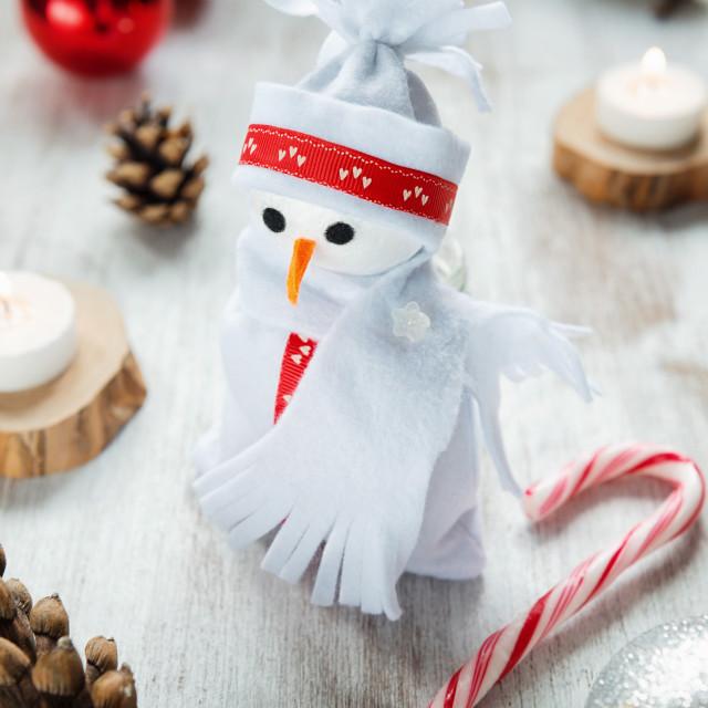 """""""Snowman for Christmas"""" stock image"""