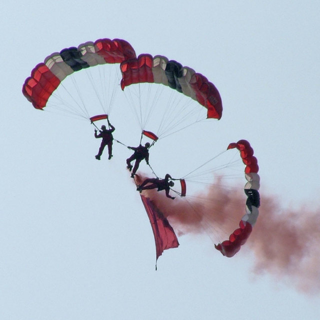 """Parachutes"" stock image"