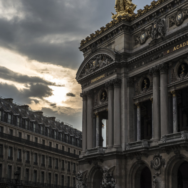 """Sunset at the Palais Garnier, Paris"" stock image"