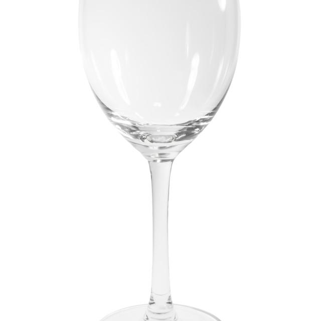 """Empty Wine Glass"" stock image"