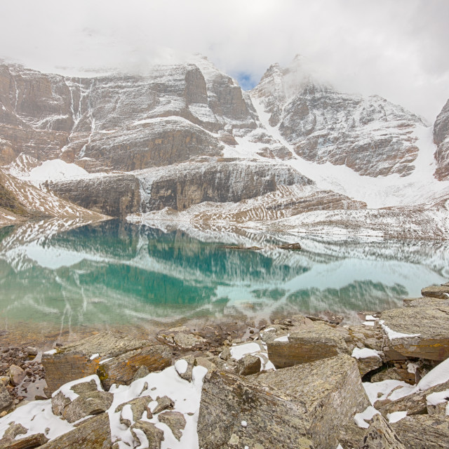 """Lake Oesa, Yoho National Park"" stock image"