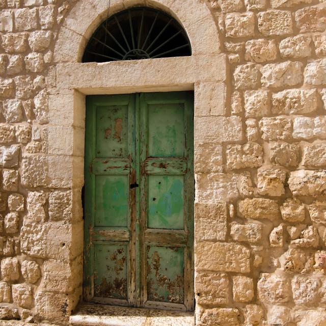 """""""""""Yesterday"""", a doorway in old Bethlehem, Israel"""" stock image"""