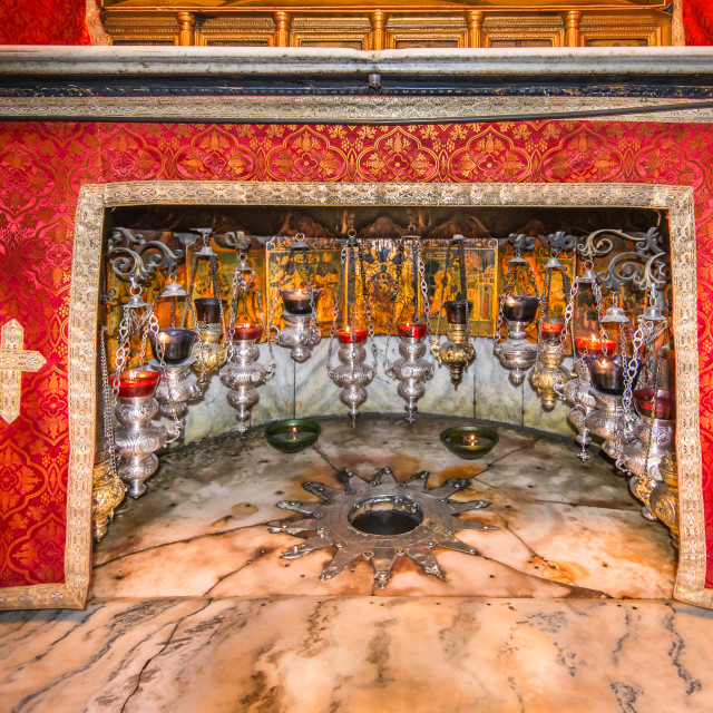 """Holy Church of the Nativity, Bethlehem, Israel"" stock image"