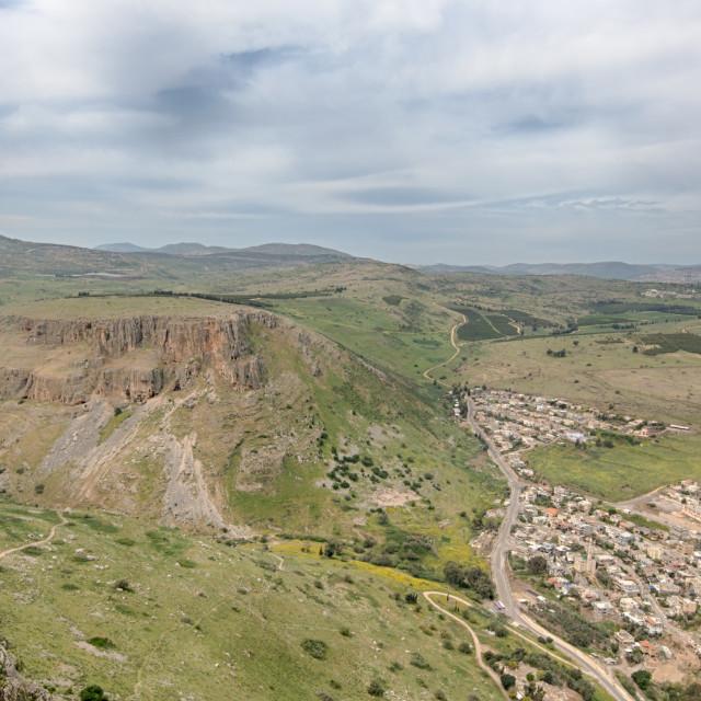 """""""Arbel Cliffs, Jesus Trail, Arbel National Park, Israel"""" stock image"""