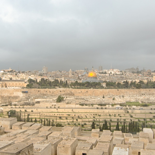"""Mount Of Olives, Dome Of The Rock, Temple Mount, Jerusalem, Isra"" stock image"