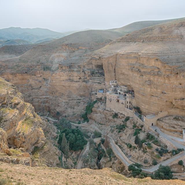 """St. George Monastery, Wadi Qelt Gorge, West Bank, Israel"" stock image"
