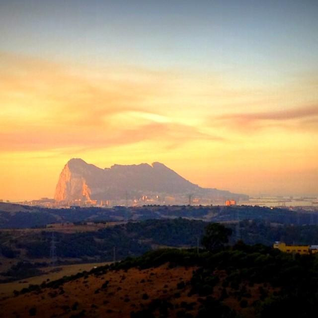 """""""Gibraltar's awakening!"""" stock image"""