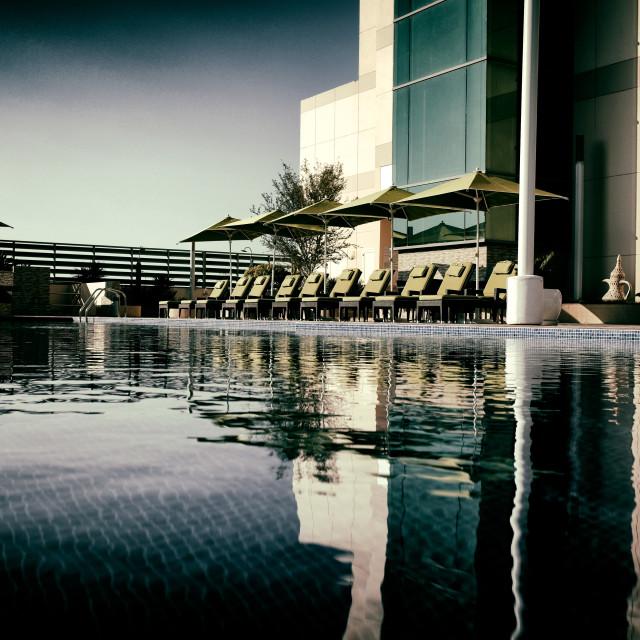 """""""Fraser Suites, Al Seef, Bahrain"""" stock image"""