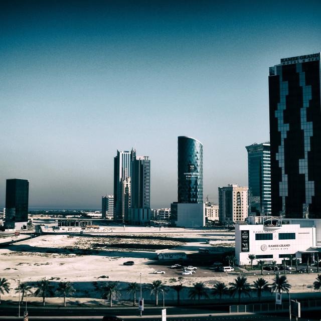 """""""Al Seef, Bahrain"""" stock image"""