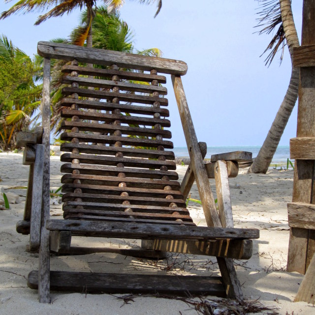 """Caribbean Deck Chair"" stock image"
